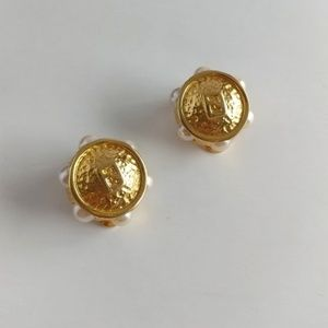Fendi Logo Clip On Earrings